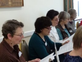 Altos in full voice at the April 2018 workshop